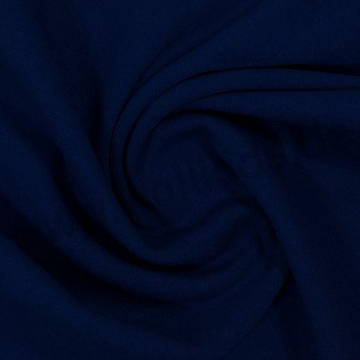 Wundervoller Baumwoll - Bündchen Stoff uni dunkelblau - griffig & weich zugleich