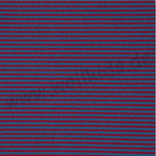 REST 14cm - Wundervoller Baumwoll - Bündchen Stoff rot türkis Ringel - griffig & weich zugleich