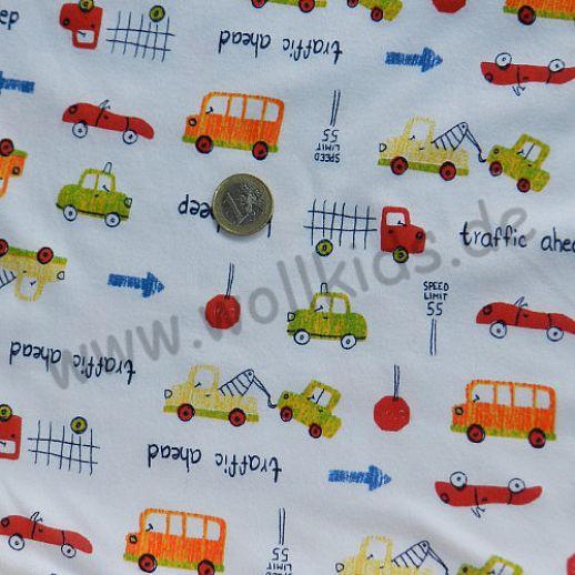 Interlock mit total niedlichen Autos - ein Traum für kleine Jungs - Baumwolle - bezaubernd