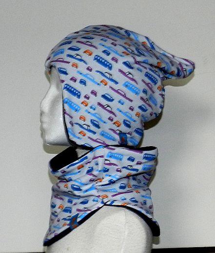 WOLLKIDS Mütze Kindermütze - KU 49-54, Unikate - Baumwolle - Fleece - Cars