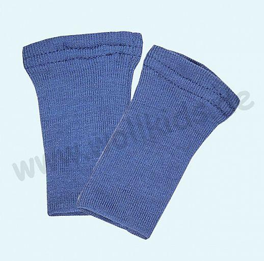 Baby Pulswärmer Handstulpen Babypulswärmer aus Schurwolle Seide - blau
