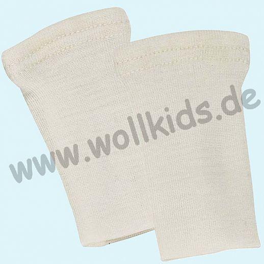 Baby Pulswärmer Handstulpen Babypulswärmer aus Schurwolle Seide - ganz weich und zart