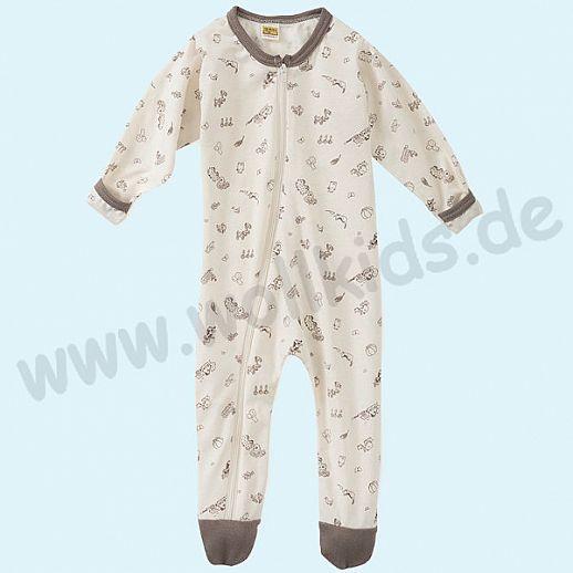 Baby Schlafanzug mit süßen Bauernhofmotiven - Baumwolle - weich und zart