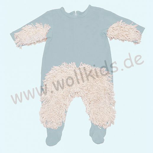 BABYMOP® Wischmop Strampler Overall Nicky hellblau 100% Baumwolle