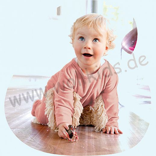 BABYMOP® Wischmop Strampler Overall Nicky rosa 100% Baumwolle