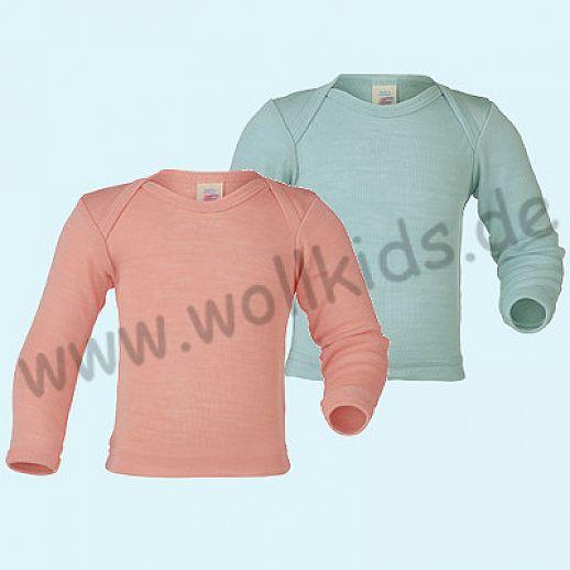 NEU: Engel Baby Schlupfhemd Hemd Wolle Seide gletscher oder lachs GOTS