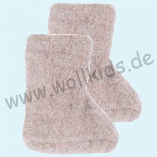 PURE PURE by Bauer: Wollfleece weiche Babystiefel - Schuhe ideal auch für Traglinge - kaschmir