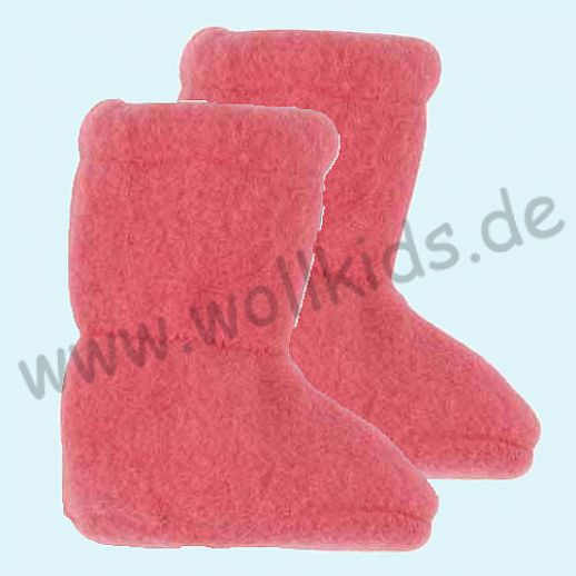 PURE PURE by Bauer: Wollfleece weiche Babystiefel - Schuhe ideal auch für Traglinge - rosenholz