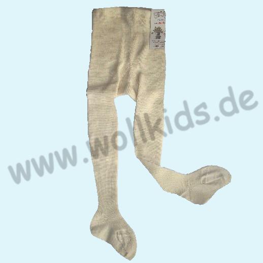 NEU: Kinderstrumpfhose 100% Demeter Wolle - GOTS BIO Schurwolle von Grödo Natur