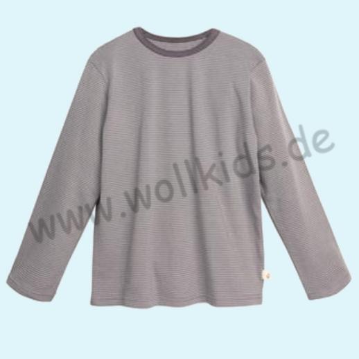 BASIC Shirt Langarm BIO Organic GOTS grau Ringel