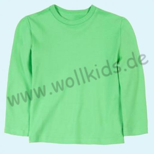 BASIC Shirt Langarm BIO Organic GOTS grün