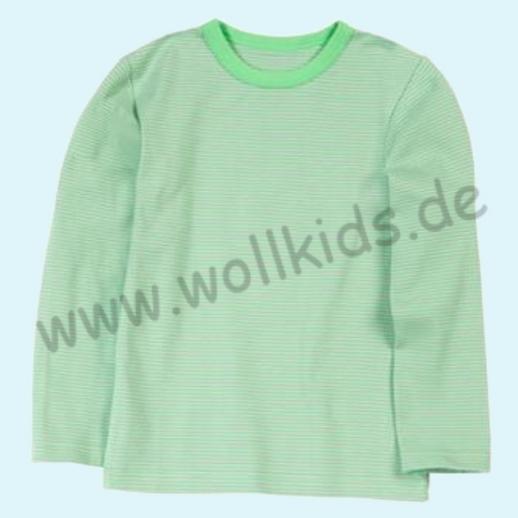 BASIC Shirt Langarm BIO Organic GOTS grün Ringel
