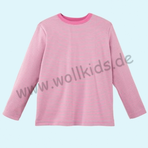 BASIC Shirt Langarm BIO Organic GOTS pink Ringel