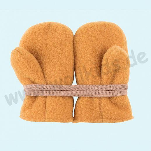 NEU in 3 Größen! PURE PURE by Bauer: Richtig warme weiche Wollfleece Handschuhe Fäustlinge bernstein