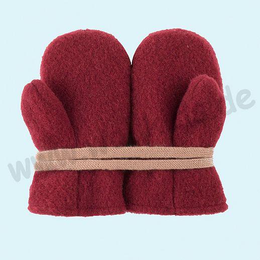 NEU in 3 Größen! PURE PURE by Bauer: Richtig warme weiche Wollfleece Handschuhe Fäustlinge bordeaux