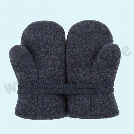 NEU in 3 Größen! PURE PURE by Bauer: Richtig warme weiche Wollfleece Handschuhe Fäustlinge marine