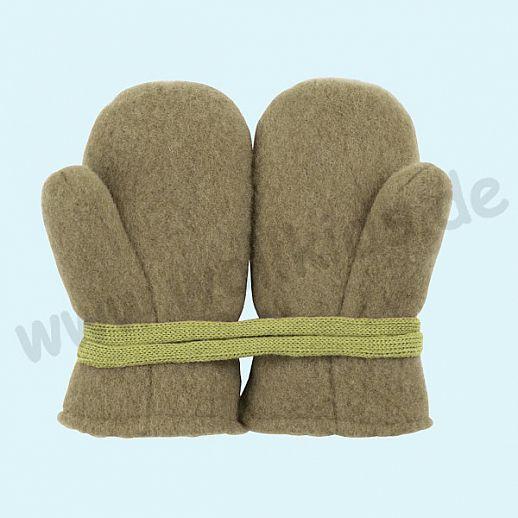 NEU in 3 Größen! PURE PURE by Bauer: Richtig warme weiche Wollfleece Handschuhe Fäustlinge oliv
