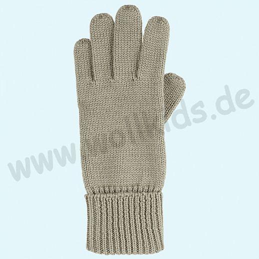 GENIAL: Fingerhandschuhe aus reiner Schurwolle für Kinder - olive