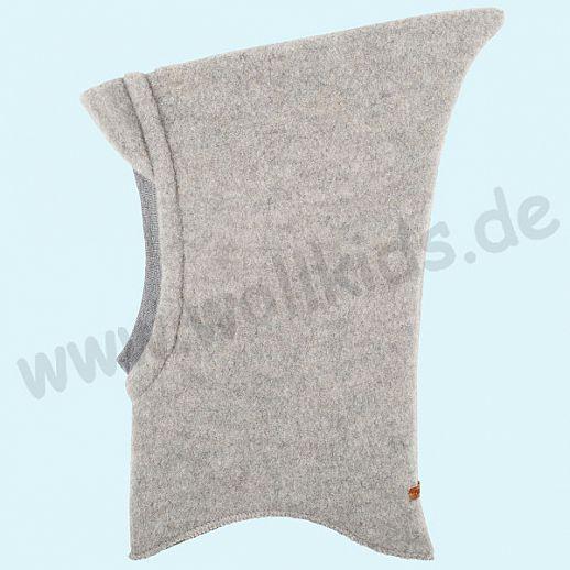 NEU: Pure-Tex Weiche Wollfleece Mütze Schlupfmütze  grau melange, GOTS, kbT Wolle