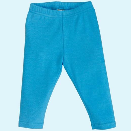 BIO Baumwolle Leela Cotton Baby & Kinder Leggin nordischblau Mittelblau