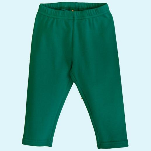 BIO Baumwolle Leela Cotton Baby & Kinder Leggin smaragdgrün petrol