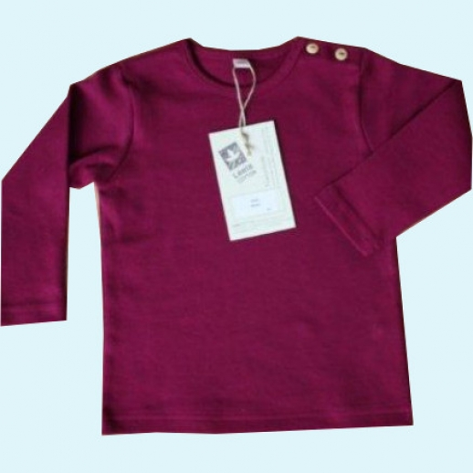 BIO BAUMWOLLE Leela Cotton Langarm T-Shirts kbA BW Uni Langarm Shirt BASIC fuchsia beere brombeer