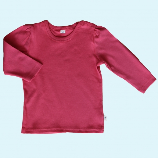 BIO BAUMWOLLE Leela Cotton Langarm T-Shirts kbA BW Uni Langarm Shirt BASIC himbeer