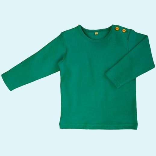 BIO BAUMWOLLE Leela Cotton Langarm T-Shirts kbA BW Uni Langarm Shirt BASIC smaragd petrol