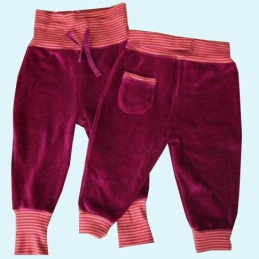 BIO Baumwolle NICKY Leela Cotton Baby Hose mit Nabelbund Yogabund beere