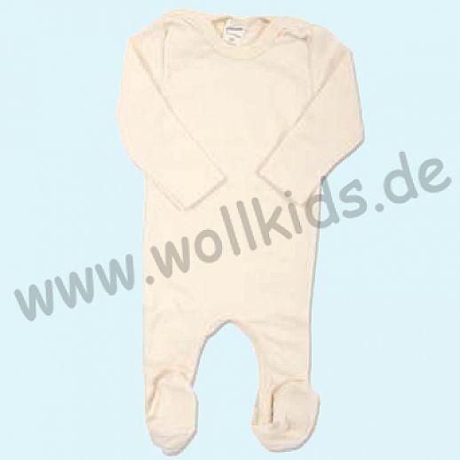 SALE: Lilano Baby Body mit langen Beinen LA Wolle Seide natur Overall Longjohn