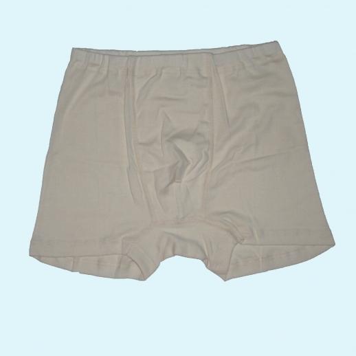 Boxer-Shorts - Seide/Wolle-Baumw. natur