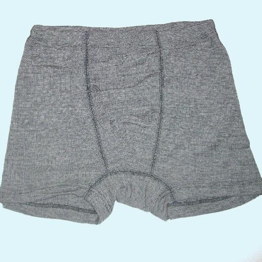 Boxer-Shorts - Seide/Wolle-Baumw. schwarz