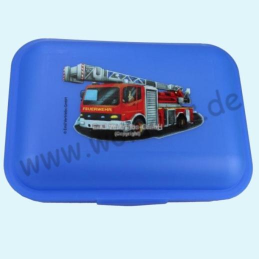Emil die Flasche - Brotdose mit Innenteilung blau Feuerwehr
