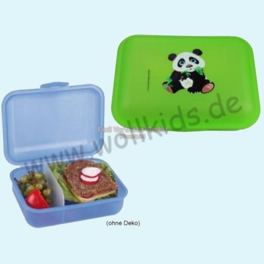 Emil die Flasche - Brotdose mit Innenteilung grün mit Panda