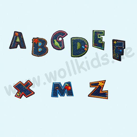 ☆ Buchstaben ☆ Zahlen ☆ Applikation ☆ Namen ☆ Jeans ☆