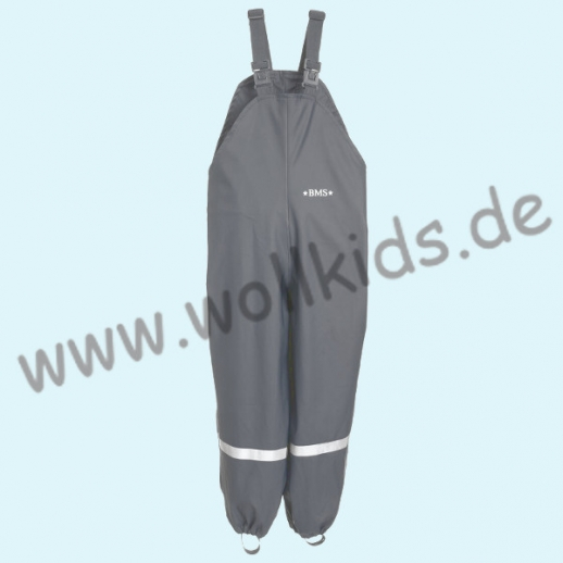 NEU: BMS Buddel-/ Regenlatzhose - wasserdicht grau - OekoTex 100 Kategorie 1