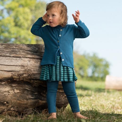 Maschinenwaschbar Engel Rock für Kinder Wolle Seide blau türkis