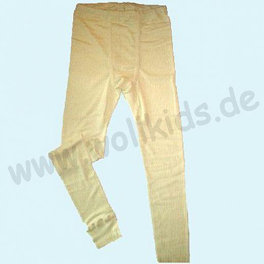 SALE: Cosilana: Lange Unterhose - Seide Wolle-Baumwolle natur