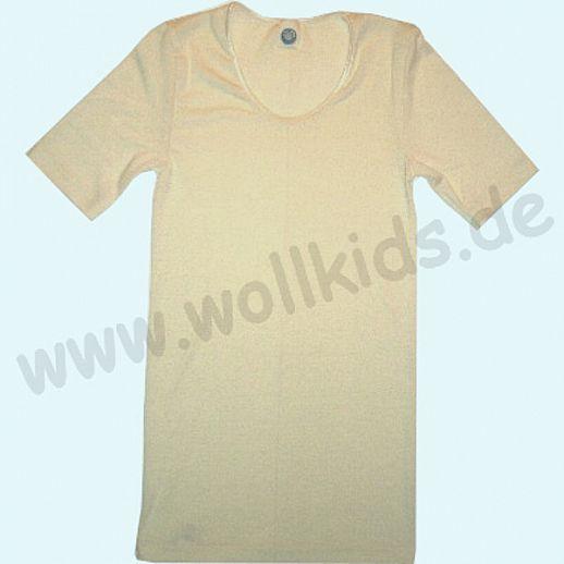 COSILANA: Kurzarm - Damen Hemd - Wolle-Seide - natur BIO kbT Natur