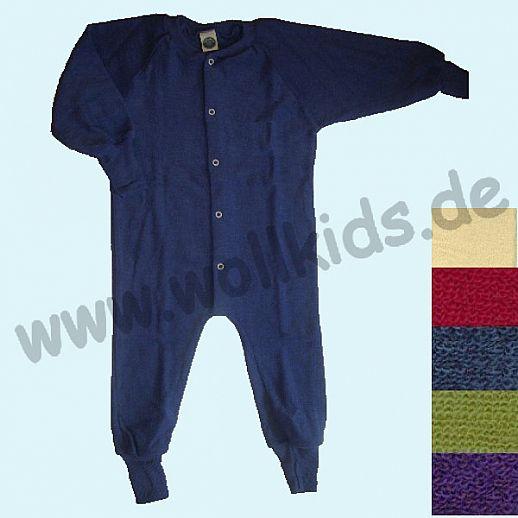 COSILANA Wollfrottee Schlafanzug ohne Fuß - 5 Farben NEU auch in pflaume