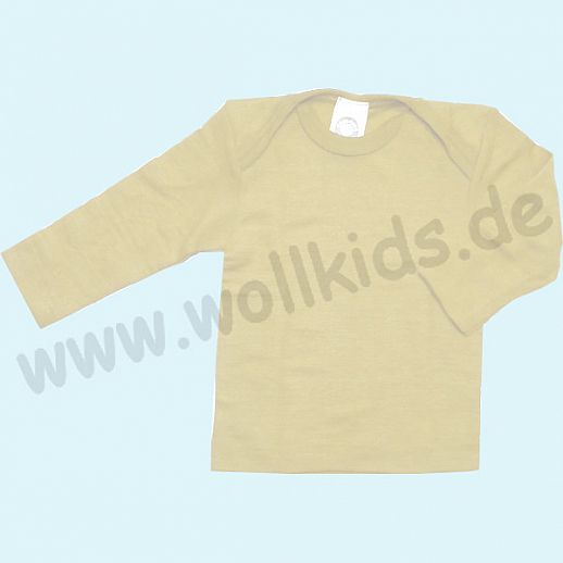 Cosilana Baby-Schlupfhemd LA Wolle Seide natur Langarm ORGANIC natur