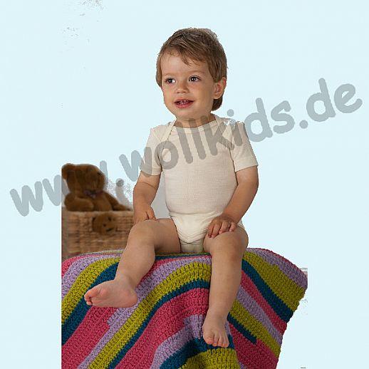 Cosilana Baby Body KA Wolle Seide natur Kurzarm Babybody