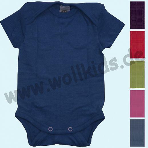 NEU: COSILANA Body - KA Uni - Wolle Seide verschiedene Farben Kurzarm Babybody