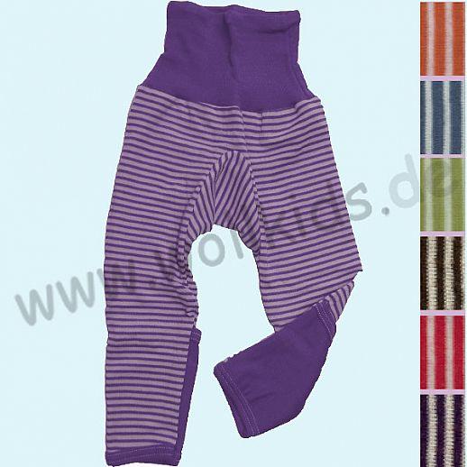 Cosilana Baby-Hose Wolle Seide NEUE FARBEN mit Umschlagbündchen