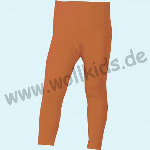 COSILANA - Kinderleggin, Wolle Seide SONDERMODELL Kinderleggin terracotta-orange geringelt