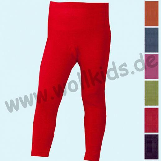 Cosilana - Kinderleggin, Wolle Seide uni, rot marine orange grün  schoko pink