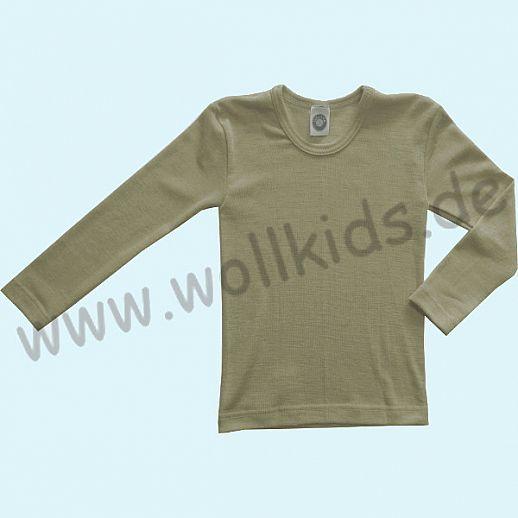 Cosilana Kinder-Unterhemd LA Wolle Seide Organic BIO Langarm Shirt