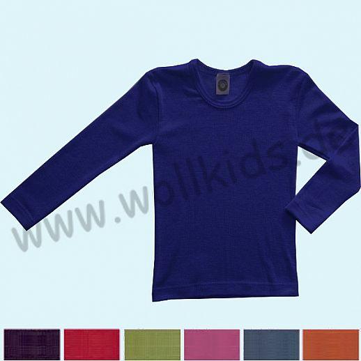 NEU: pink & pflaume Cosilana Kinder-Unterhemd LA Wolle Seide uni farbig