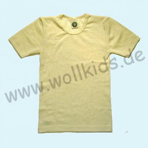 Cosilana Hemdchen KA Wolle Seide natur Kurzamr Shirt ORGANIC
