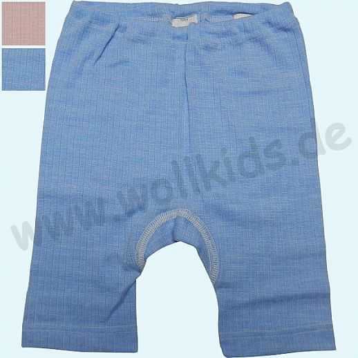 COSILANA Kinderbermuda - Seide Wolle BIO Baumwolle ORGANIC - farbig